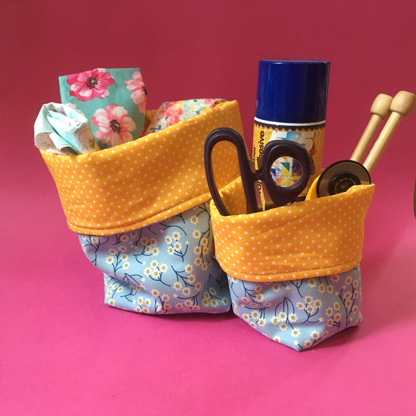Live Online Workshop - Soft fabric basket