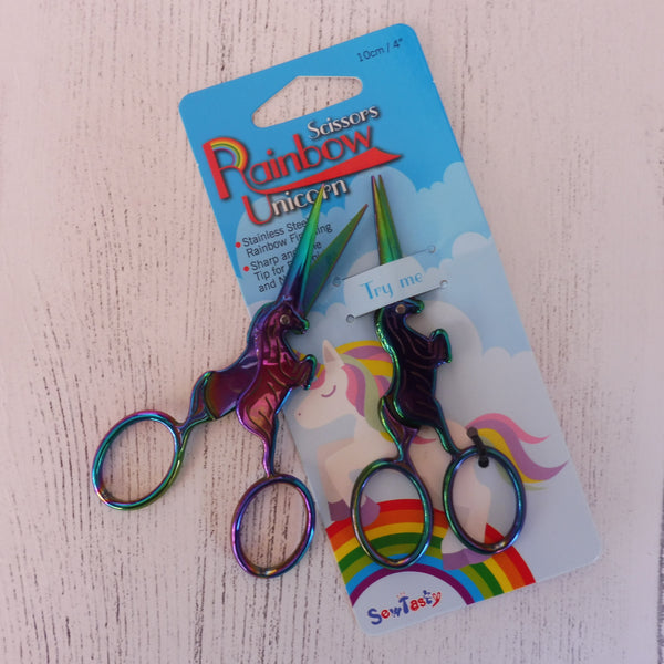 Rainbow Unicorn Embroidery Scissors