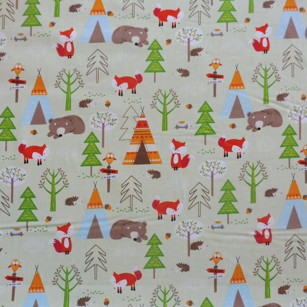 Forest Friends Cotton Poplin