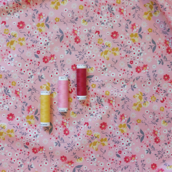 Pink Tiny Meadow Cotton Poplin