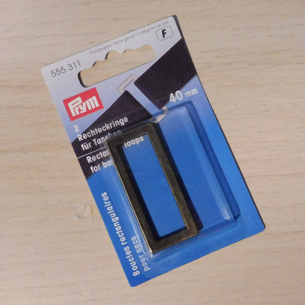 Prym Rectangle Loops for Bags - Brass
