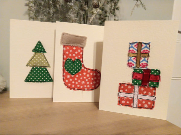 Live Online Workshop - Free-motion Embroidered and Appliquéd Christmas card - for Beginners