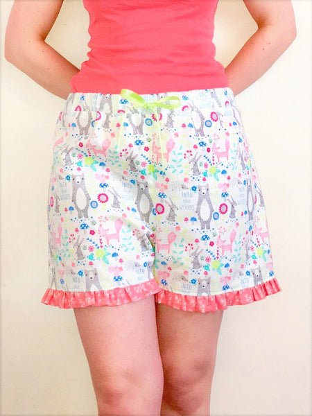 Crafty Sew and So Pyjama Shorts Paper Pattern