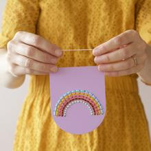 Pastel Rainbow Wooden Embroidery Kit