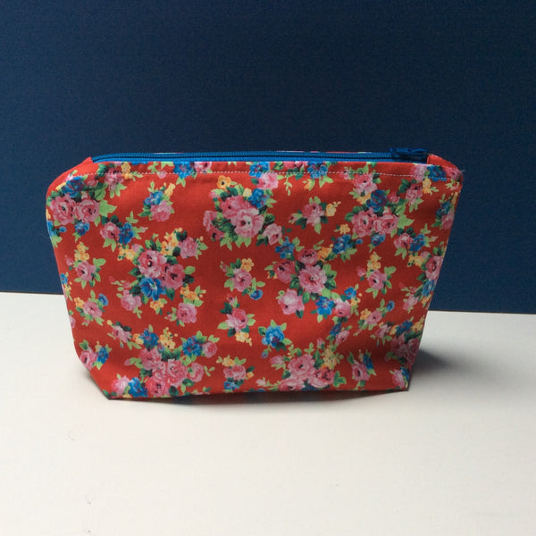 Red Floral Make-up Bag Kit