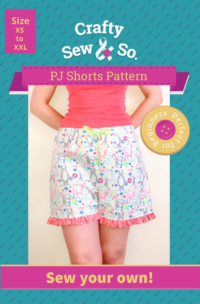 Crafty Sew & So Frill PJ Shorts PDF Pattern