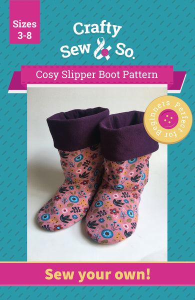 Crafty Sew & So Cosy Slipper Boot PDF Pattern