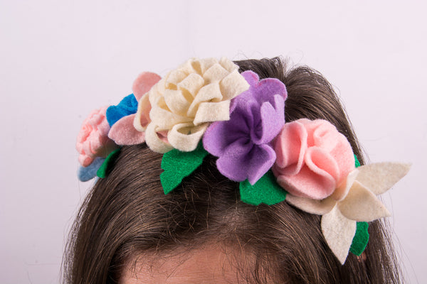 Felt Floral Headband Kit - Pretty Pastles