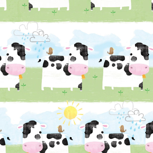 Cows in a Line Craft Cotton