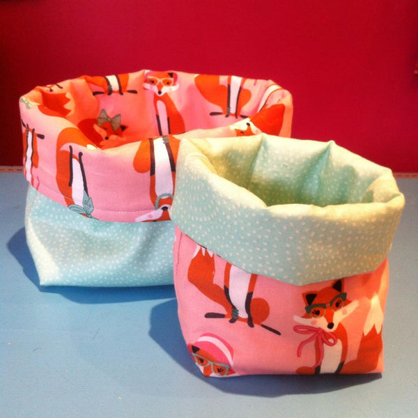 Learn to Sew - Soft fabric baskets