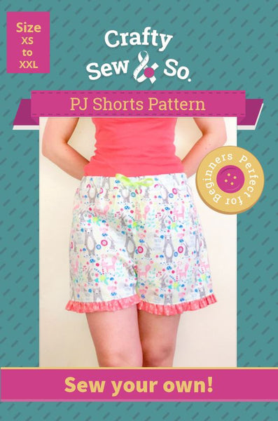 Crafty Sew & So Pyjama Bottoms and Shorts PDF Pack
