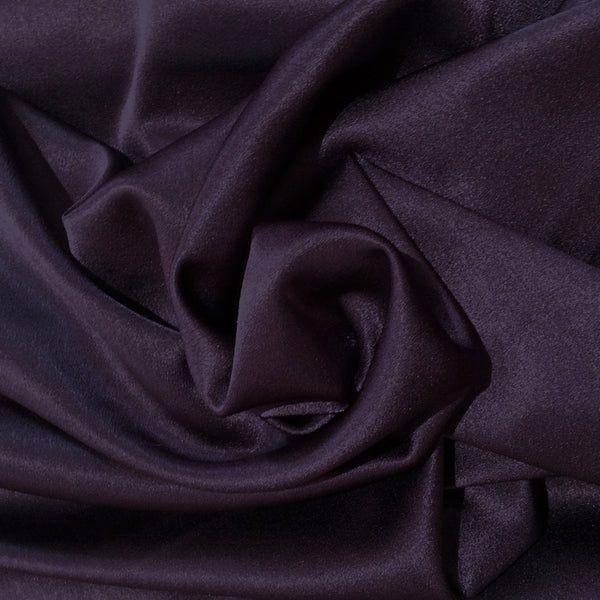 Grape Crepe Backed Satin