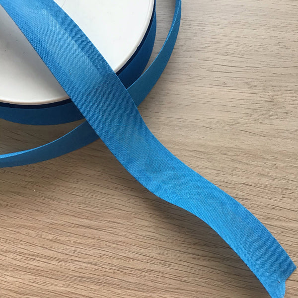 Bright Blue 25mm Bias Binding