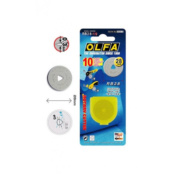 OLFA Blades for 28mm Rotary Cutter
