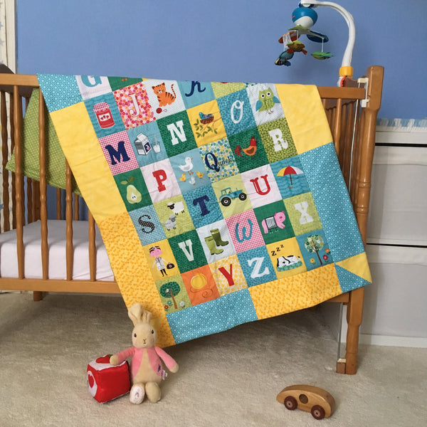 Patchwork and Quilting - Baby Quilt using a Printed Panel
