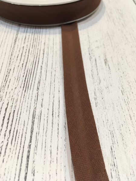 Coffee Brown 16mm Bias Binding