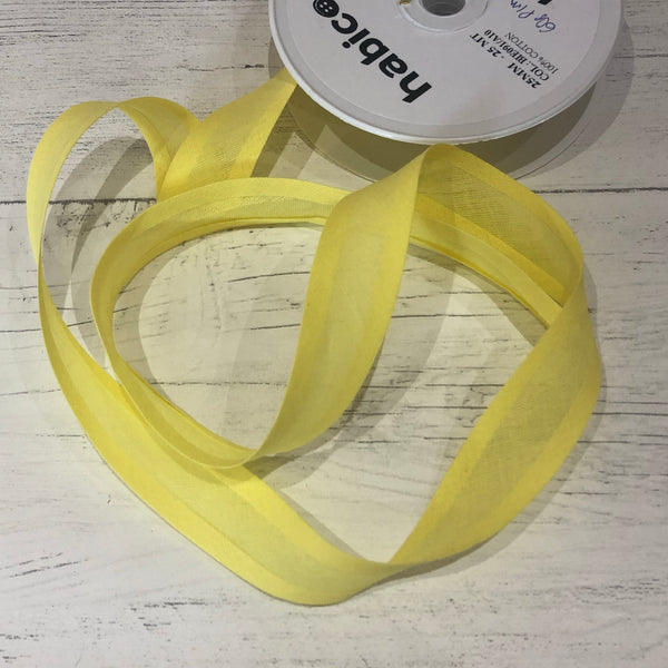 Sunshine Yellow 25mm Bias Binding