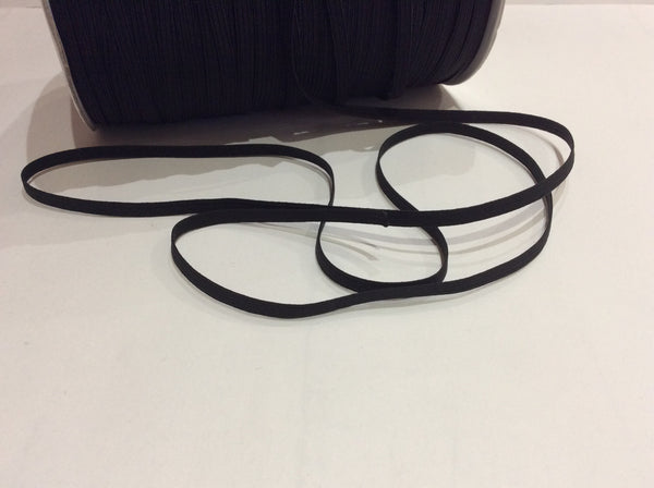 5mm Black Braided Elastic