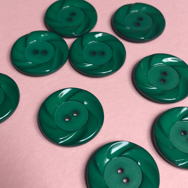 Green Vintage Buttons Pack of Three