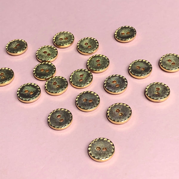 Golden Buttons Pack of Six