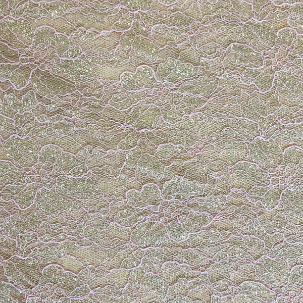 Lurex Lace - Nude Gold
