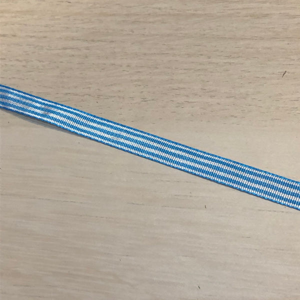 Blue Stripy Ribbon 10mm
