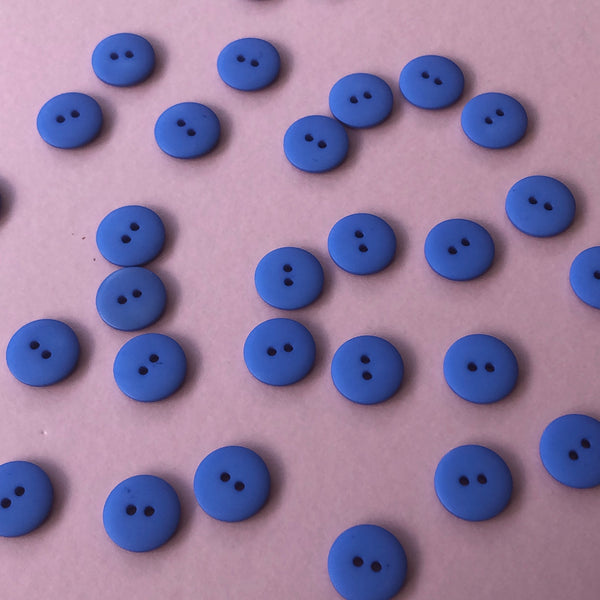 Blue 18mm Buttons Pack of Five