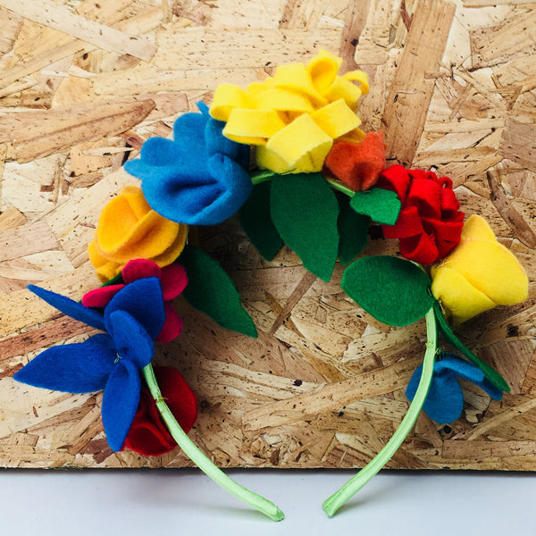 Felt Floral Headband Kit - Bold Brights