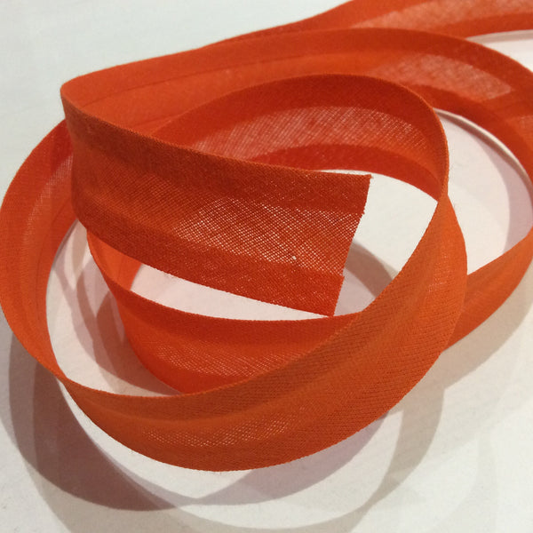 Orange 25mm Bias Binding