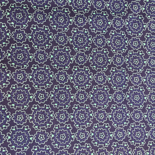 Summer Song Navy Posy Craft Cotton