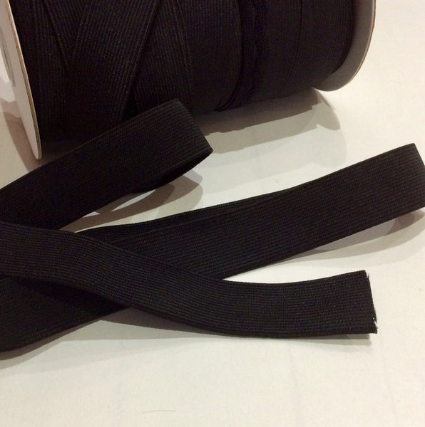 25mm Black Loom Elastic