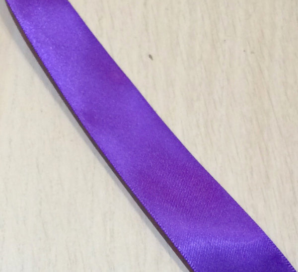 Purple Satin Ribbon 25mm