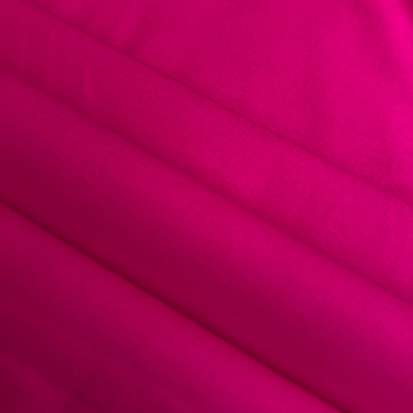 Fuchsia Stretch Cotton Twill - Medium Weight