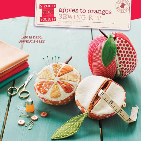 Straight Stitch Society Apples to Oranges Sewing Kit