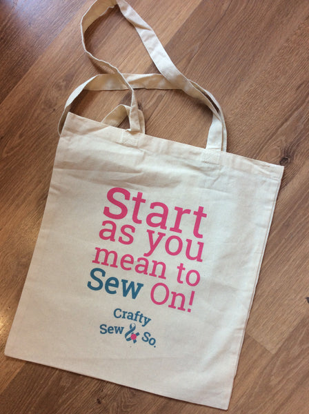 Start as you mean to SEW on Tote Bag