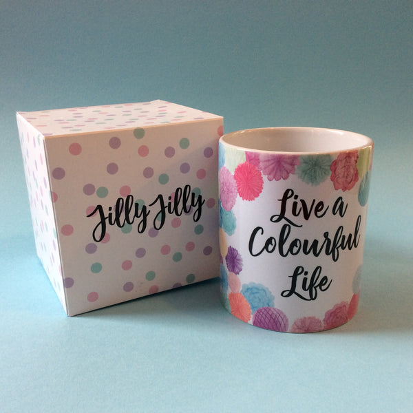 Jillyjilly 'Live A Colourful Life' Mug