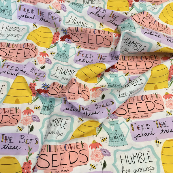 Feed the Bees Wildflower Seeds Craft Cotton