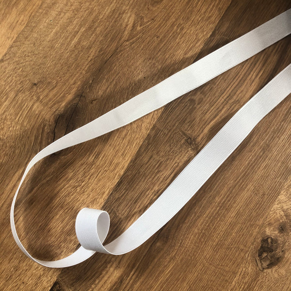 25mm White Loom Elastic