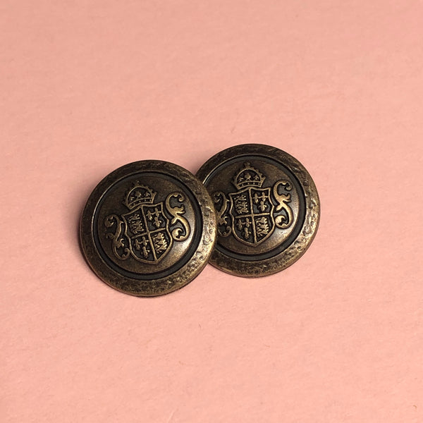 Brass Shank Buttons Pack of Two