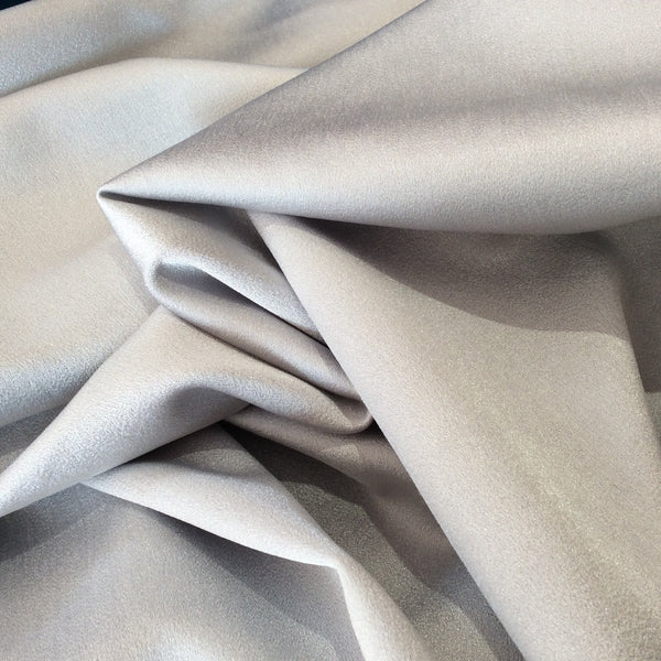 Silver Crepe Backed Satin