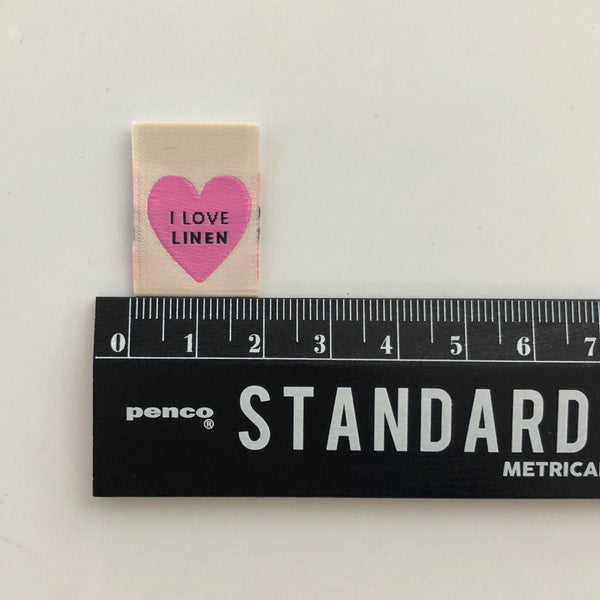'I Love Linen' Woven Labels
