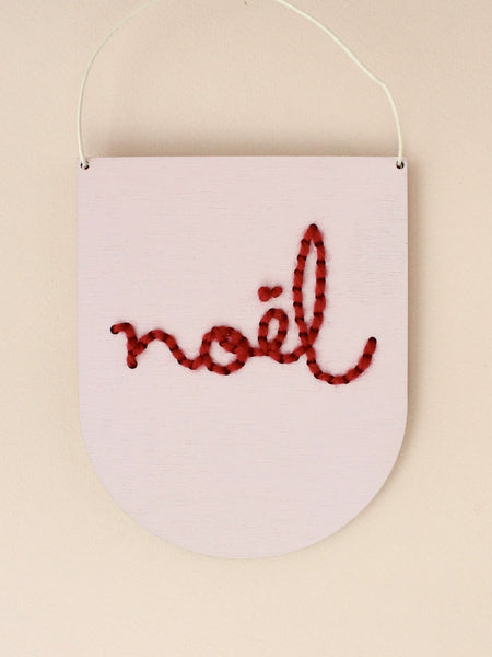 'Noel' Mini Script Embroidery Kit