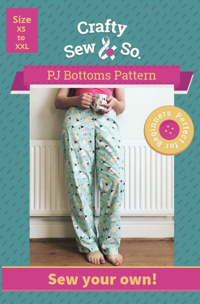 Crafty Sew & So Pyjama Bottoms Paper Pattern