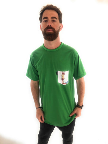 Camiseta Trankilo Pocket Surf Verde
