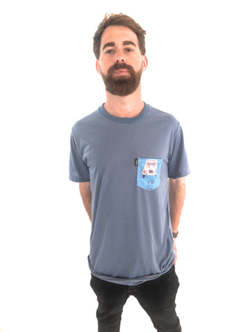 Camiseta Trankilo Pocket Surf Glaciar