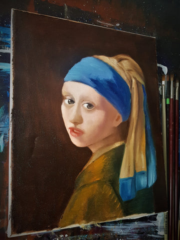 Fata cu turban (Girl with a Pearl Earring) Reproducere