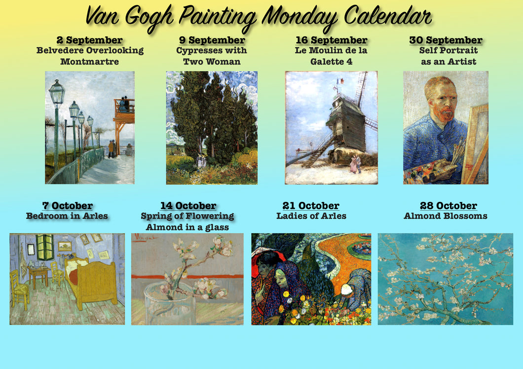 Paint Your Own Van Gogh / Van Gogh Painting Monday /Septembrie-Octombrie