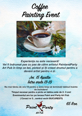 Coffee Painting Event 15 Aprilie