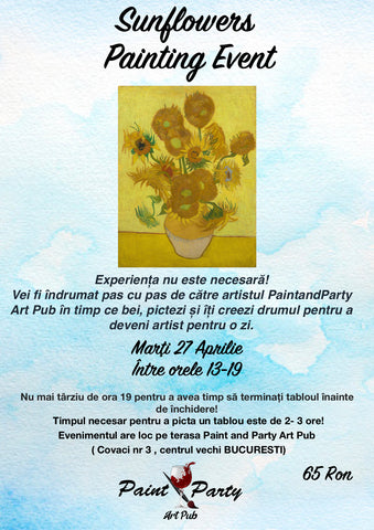 Sunflowers Painting Event 27 Aprilie
