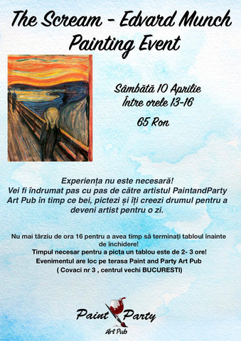 The Scream - Edvard Munch Painting Event 10 Aprilie